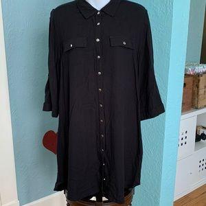 Black Shirt Dress XL